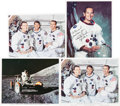 Autographs:Celebrities, Apollo Astronaut-Signed Color Photos.... (Total: 5 Items)