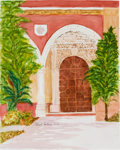 "Explorers:Space Exploration, Michael Collins Original Watercolor ""The Spanish Door"". ..."