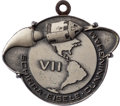 Explorers:Space Exploration, Apollo 7 Flown Silver Robbins Medallion, Serial Number 238,Originally from the Personal Collection of Mission Support CrewMe...