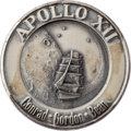 Explorers:Space Exploration, Apollo 12 Flown Silver Robbins Medallion, Serial Number 171, Originally from the Personal Collection of Astronaut Jack Swigert...