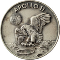 Apollo 11 Flown Silver Robbins Medallion, Serial Number 179, Originally from the Personal Collection of Mission Support...