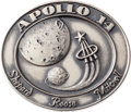 Explorers:Space Exploration, Apollo 14 Flown Silver Robbins Medallion, Serial Number 184,Originally from the Personal Collection of Astronaut JackSwigert...