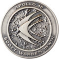 Explorers:Space Exploration, Apollo 15 Flown Silver Robbins Medallion, Serial Number 118,Originally from the Personal Collection of Astronaut JackSwigert...