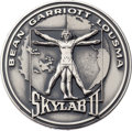 Explorers:Space Exploration, Skylab II (SL-3) Flown Silver Robbins Medallion, Serial Number 039F, Originally from the Personal Collection of Astronaut Jack...