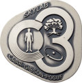 Explorers:Space Exploration, Skylab III (SL-4) Flown Silver Robbins Medallion, Serial Number 21F, Originally from the Personal Collection of Astronaut Jack...