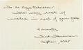 Explorers:Space Exploration, Theodore Freeman Autograph Note Signed....