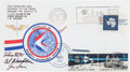 "Explorers:Space Exploration, Apollo 15 Lunar Module Flown Crew-Signed ""Sieger"" Cover #137, withSigned and Notarized Certification. ..."