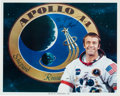 Autographs:Celebrities, Alan Shepard Signed White Spacesuit Color Photo....
