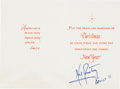 Autographs:Celebrities, Neil Armstrong Signed Christmas and New Year Card with JSA Letterof Authenticity....