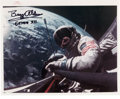 Autographs:Celebrities, Buzz Aldrin Signed Gemini 12 Spacewalk Color Photo....
