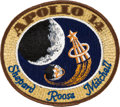 Explorers:Space Exploration, Apollo 14 Flown Embroidered Mission Insignia Patch Originally from the Personal Collection of Mission Lunar Module Pilot Edgar...