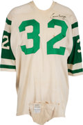 Football Collectibles:Uniforms, 1968-69 Emerson Boozer Game Worn, Signed New York Jets Jersey. ...