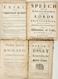 Books:World History, [Coin Regulation] Three Publications Relating to the Regulation of Coinage in Great Britain. London: various publishers,...