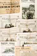 Books:Periodicals, [Newspaper] Group of Approximately 29 Antique Newspapers. Most arefrom the mid-to-late 19th century. One is from 1793. News...