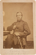 Photography:Cabinet Photos, Union Colonel George Lincoln Prescott Cabinet Card Signed...