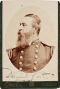 Photography:Cabinet Photos, Admiral David Porter Cabinet Card Signed...