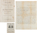 Political:Small Paper (pre-1896), Ulysses S. Grant: Campaign Ephemera From the 1868 Election....