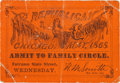 Miscellaneous:Ephemera, 1868 Republican National Convention Ticket....