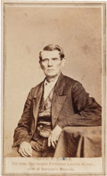 Photography:CDVs, [Abraham Lincoln]. Dennis Hanks Carte de Visite....