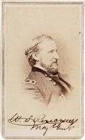 Autographs:Military Figures, Union General William S. Rosecrans Carte de VisiteSigned....