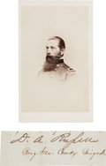 Photography:CDVs, Union General David A. Russell Clipped Signature and Carte de Visite....