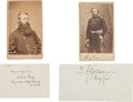 Photography:CDVs, Union Generals Quincy Adams Gillmore and David M. Gregg: Two Cartes de Visite with Clipped Signatures.... (Total: 4 )
