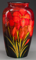 Ceramics & Porcelain, British:Modern  (1900 1949)  , WILLIAM MOORCROFT POTTERY TIGER LILY VASE, Burslem(Stoke-on-Trent), Staffordshire, England, circa 1930. Marks: W.Moorcro...