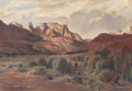 Fine Art - Painting, American:Modern  (1900 1949)  , PAUL LAURITZ (Canadian, 1889-1975). In the Still of the Evening,Zion National Park. Oil on canvas laid on panel. 24 x 3...