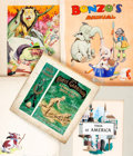 Books:Original Art, [Original Art] Various Artists. Group of Five Watercolor Illustrations for Children's Books. No date. Includes two cover des...