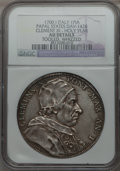 Italy:Papal States, Italy: Papal States. Clement XI Piastra 1700 Anno I AU Details(Tooled, Whizzed) NGC,...