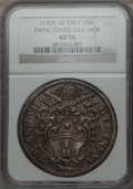 Italy:Papal States, Italy: Papal States. Clement XI Piastra Anno VII (1707/08) AU55NGC,...