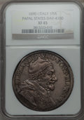 Italy:Papal States, Italy: Papal States. Alexander VIII Piastra 1690 Anno I XF45NGC,...