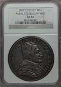 Italy:Papal States, Italy: Papal States. Innocent XI Piastra Anno II (1677/78) XF45NGC,...
