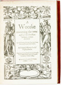 Books:Religion & Theology, Philip Mornay, Lord of Plesie-Marlie. A Woorke concerning the trewness of the Christian Religion, written in French: Aga...