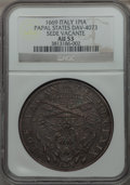 Italy:Papal States, Italy: Papal States. Sede Vacante Piastra 1669 AU53 NGC,...