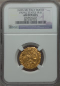 Italy:Papal States, Italy: Papal States. Calixtus III (1455-58) gold Ducato papale NDAU Details (Damaged) NGC,...