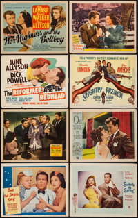 "Her Highness and the Bellboy & Others Lot (MGM, 1945). Title Lobby Cards (3) & Lobby Cards (5) (11""..."
