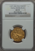 Italy:Papal States, Italy: Papal States. Sixtus IV (1471-84) gold Ducato papale ND AU55NGC,...