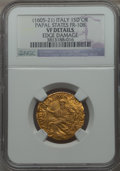 Italy:Papal States, Italy: Papal States. Paul V gold Scudo d'oro Anno II (1606) VFDetails (Edge Damage) NGC,...