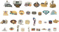Football Collectibles:Others, 1972-2004 Super Bowl Press Pins Lot of 33....