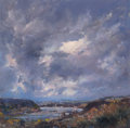 Fine Art - Painting, American:Contemporary   (1950 to present)  , ROBERT ANDRIULLI (American, b. 1948). Stormy Landscapes(three works). Oil on canvas, each. 20-1/2 x 21 inches (52.1 x 5...(Total: 3 Items)