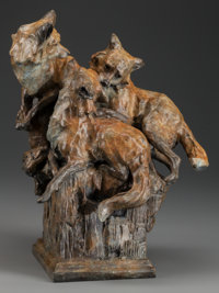 SHERRY SALARI-SANDER (American, b. 1941) After Winter, 2008 Bronze with brown patina 15 inches (3