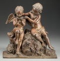 Sculpture, CONTINENTAL SCHOOL (19th Century). Cupids, 1835. Bronze with partial gilt. 13-1/2 inches (34.3 cm) high. Inscibed verso:...