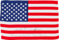 Explorers:Space Exploration, Apollo 7 Flown American Flag Originally from the PersonalCollection of Mission Commander Wally Schirra, Signed andCertified,... (Total: 2 )