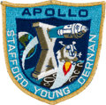 Explorers:Space Exploration, Apollo 10 Flown Embroidered Mission Insignia Patch Originally from the Personal Collection of Mission Command Module Pilot Joh...