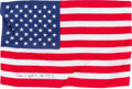 Explorers:Space Exploration, Apollo 16 Flown Large American Flag Originally from the PersonalCollection of Mission Commander John Young, Signed and Certif...