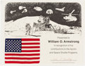 Explorers:Space Exploration, Apollo 17 Flown Flag Signed by Gene Cernan, on PresentationCertificate....