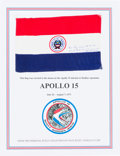 Explorers:Space Exploration, Apollo 15 Flown Flag of Paraguay Originally from the PersonalCollection of Mission Commander Dave Scott, Signed and Certified...