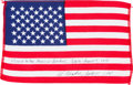 Explorers:Space Exploration, Apollo 15 Flown American Flag Originally from the Personal Collection of Mission Command Module Pilot Al Worden, Signed and Ce...