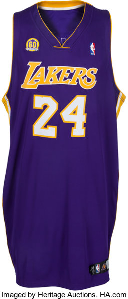size 40 d1772 0e934 2007-08 Kobe Bryant Game Worn Los Angeles Lakers Jersey ...